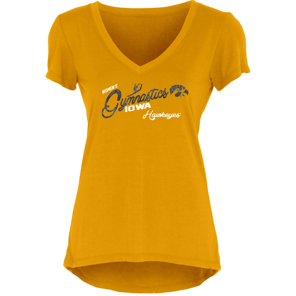Iowa Hawkeyes Youth Gymnastics Glitter Tee