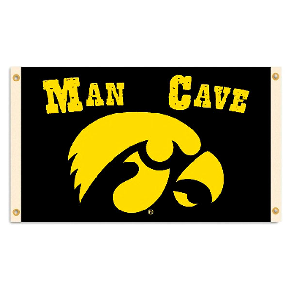 Iowa Hawkeyes Man Cave Flag
