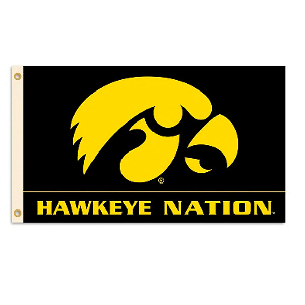 "Iowa Hawkeyes ""Hawkeye Nation"" Flag"