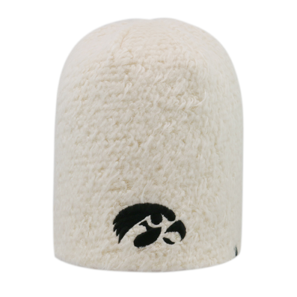 Iowa Hawkeyes Fluffy Monster Cream Stocking Cap