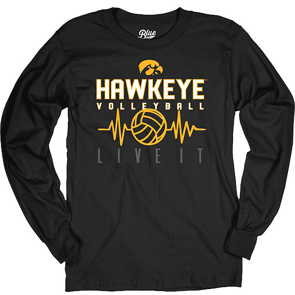 Iowa Hawkeyes Volleyball Feel The Beat Tee - Long Sleeve