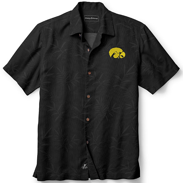 Iowa Hawkeyes Luau Floral Core Camp Shirt