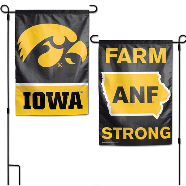 Iowa Hawkeyes ANF Garden Flag