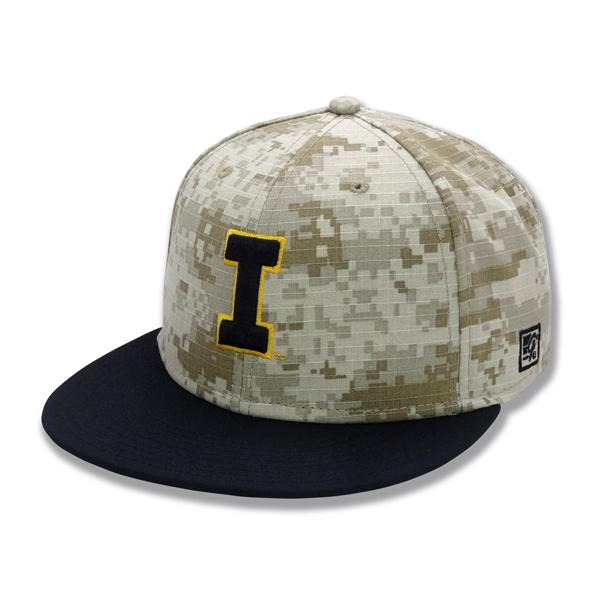 Iowa Hawkeyes Baseball Camo Stretch Hat (On The Field Hat) 6122c114b772