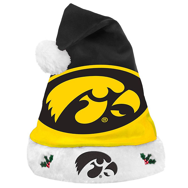Iowa Hawkeyes Santa Hat