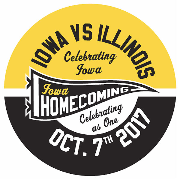 Iowa Hawkeyes 2017 Homecoming Button