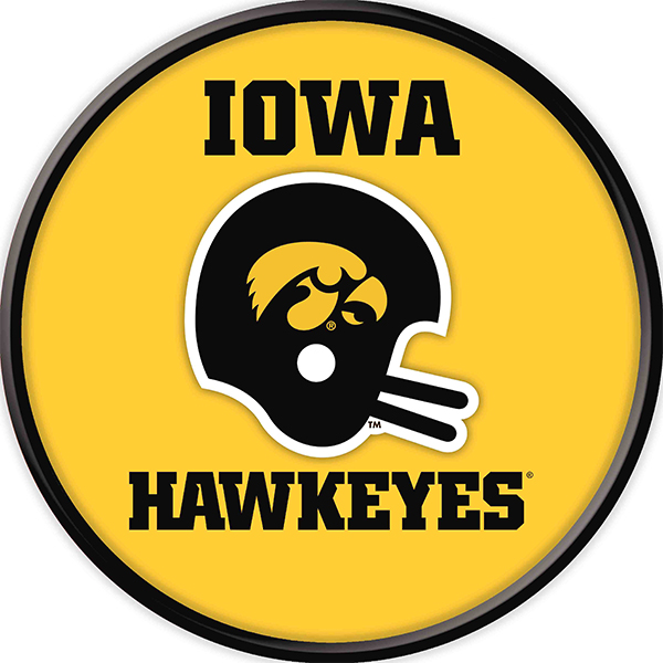 Iowa Hawkeyes Vintage Helmet Sign