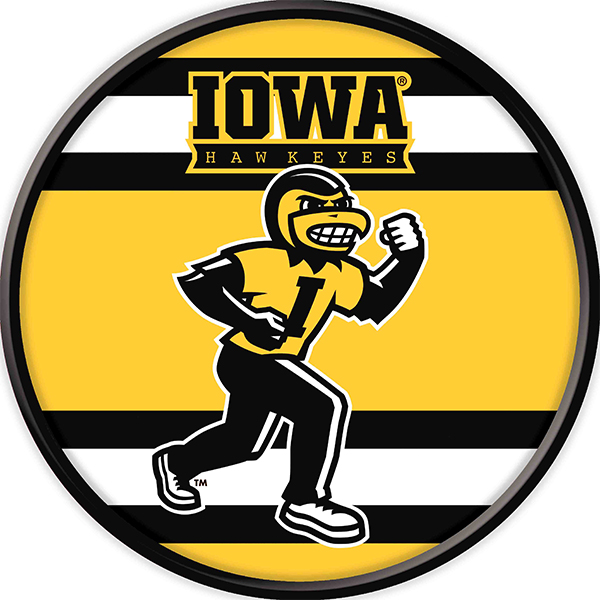 Iowa Hawkeyes Mascot Herky Stipe Sign