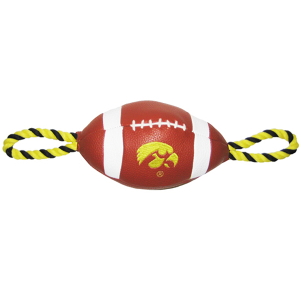 Iowa Hawkeyes Pebble Grain Football Pet Toy