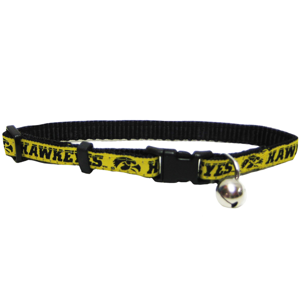 Iowa Hawkeyes Adjustable Cat Collar