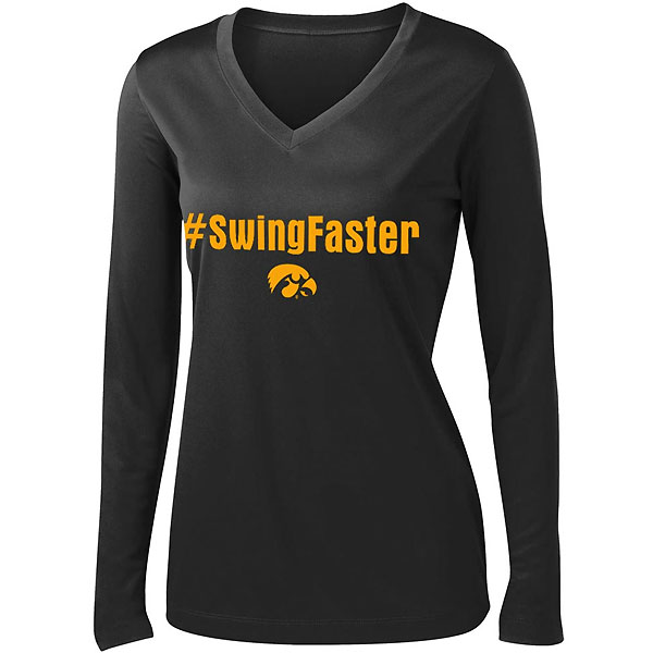 Iowa Hawkeyes Women's Swing Faster Performance Tee