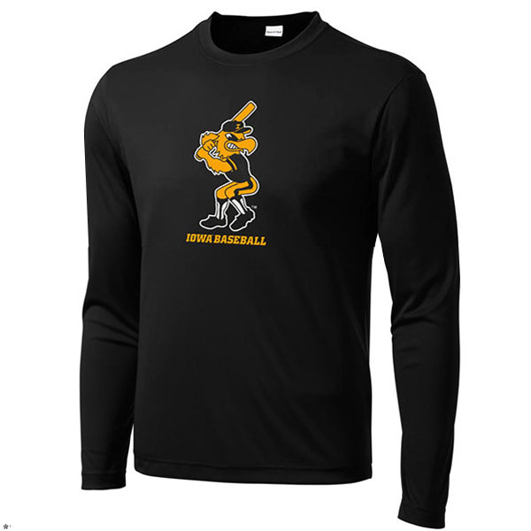 Iowa Hawkeyes Baseball Herky Batter Performance Tee
