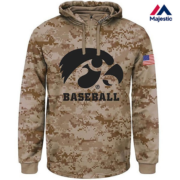 Iowa Hawkeyes Baseball Salute To Service Home Plate Hoodie