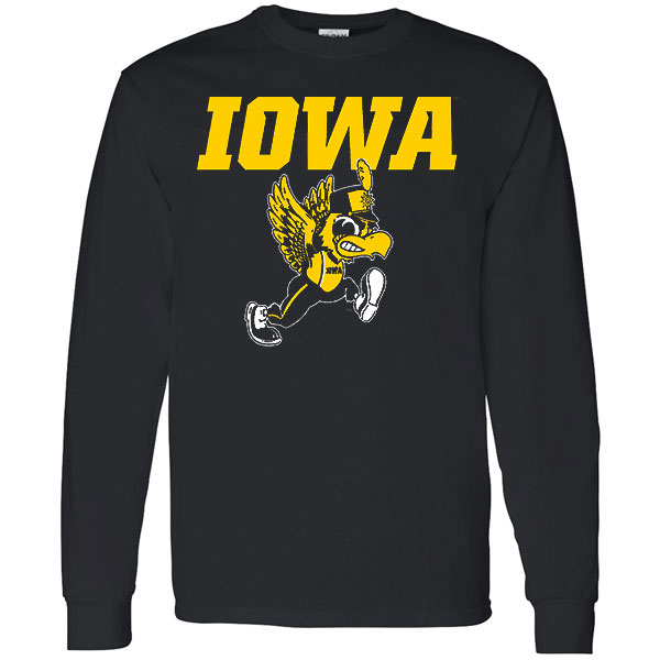 Iowa Hawkeyes Band Drummer Long Sleeve Tee