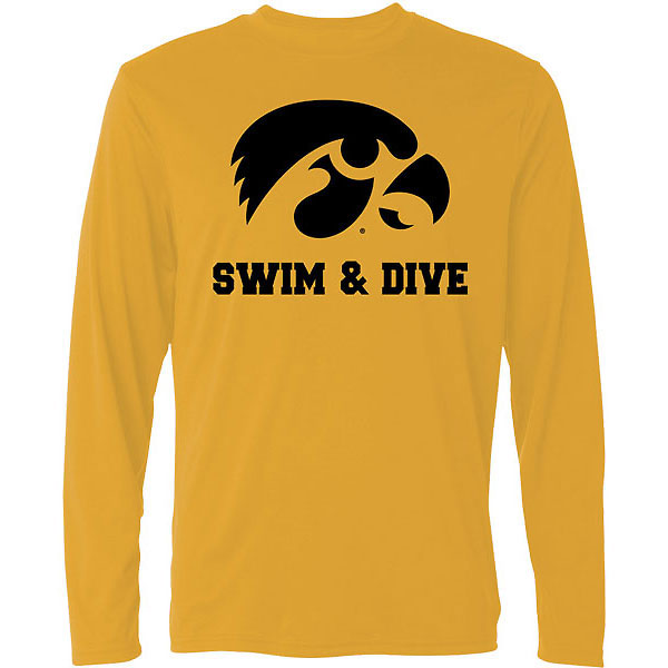 Iowa Hawkeyes Swimming and Diving Tee - Long Sleeve