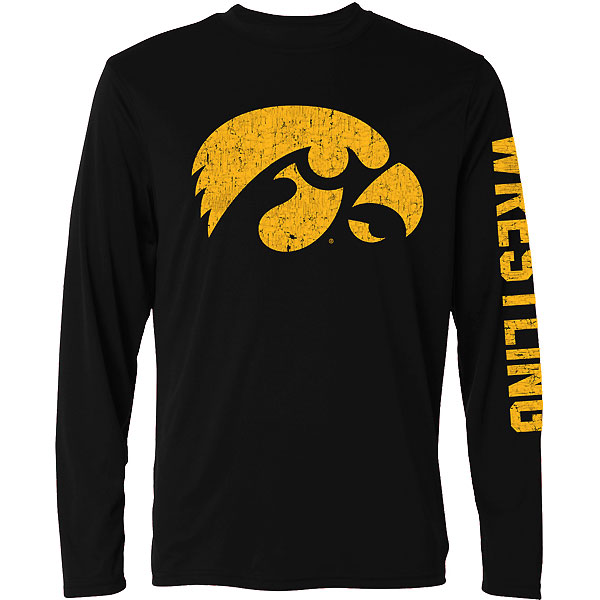 Iowa Hawkeyes Wrestling Crackle Print Tee