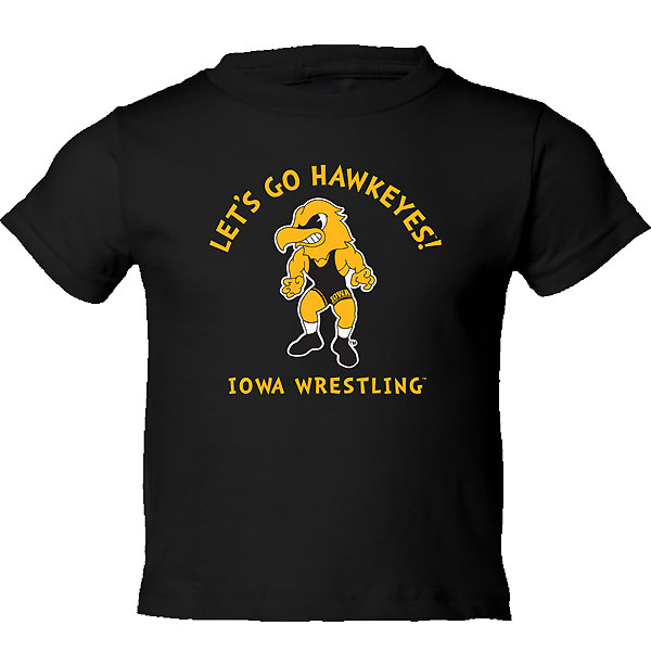 Iowa Hawkeyes Toddler Let's Go Hawkeyes Tee