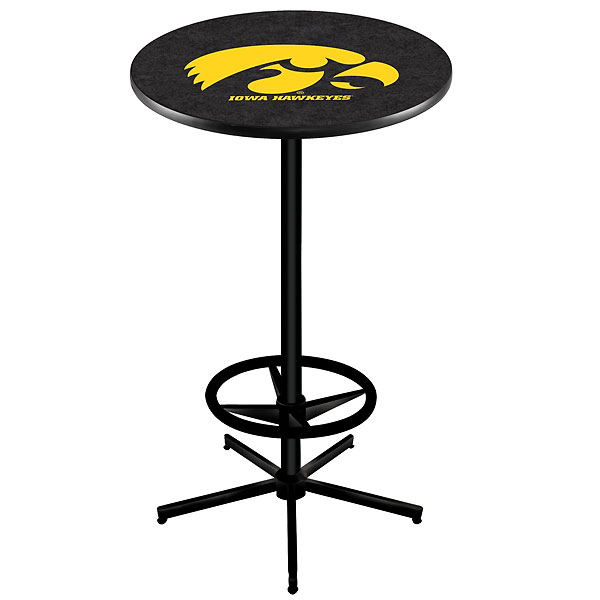 Iowa Hawkeyes Black Pub Table