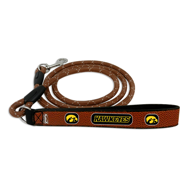 Iowa Hawkeyes Leather Pet Leash