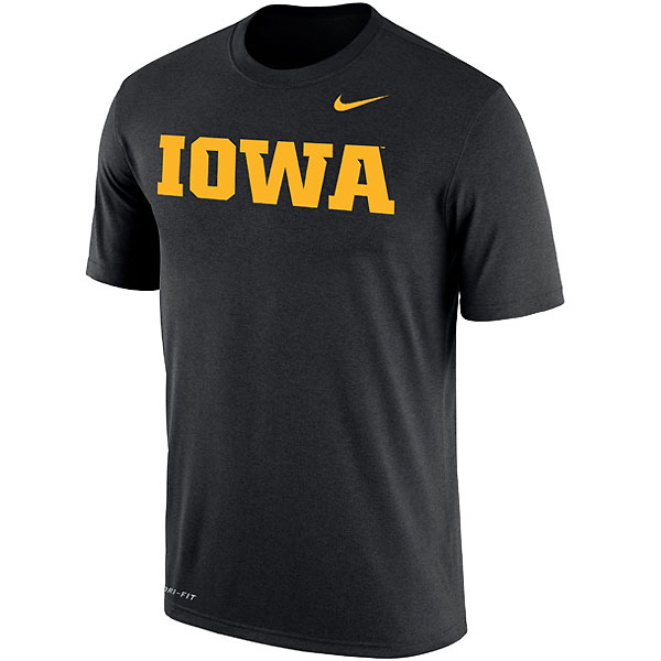 Iowa Hawkeyes Dri-Fit Word Tee