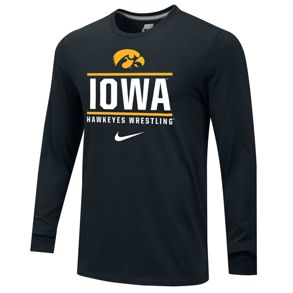 Iowa Hawkeyes Wrestling Core Long Sleeve Tee
