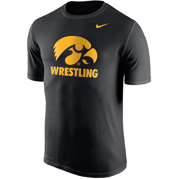 Iowa Hawkeyes Wrestling Dri Fit Legend Tee