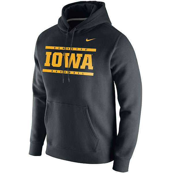 Iowa Hawkeyes Baseball Club Black Hoodie