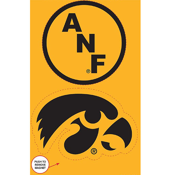 Iowa Hawkeyes ANF Two-Pack Magnets