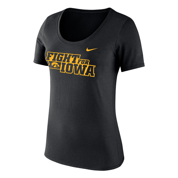 Iowa Hawkeyes Fight for Iowa Women's Tee