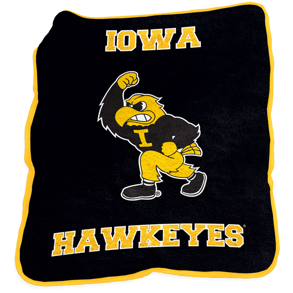 Iowa Hawkeyes Mascot Throw Blanket