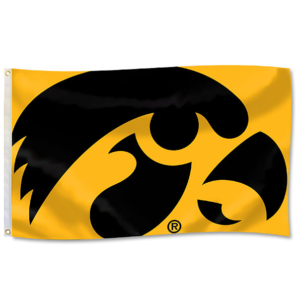 Iowa Hawkeyes Mega Mascot Flag