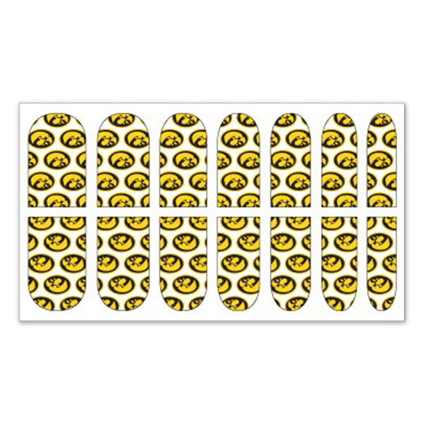 Iowa Hawkeyes Gameday Nail Decals