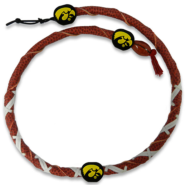 Iowa Hawkeyes Football Necklace