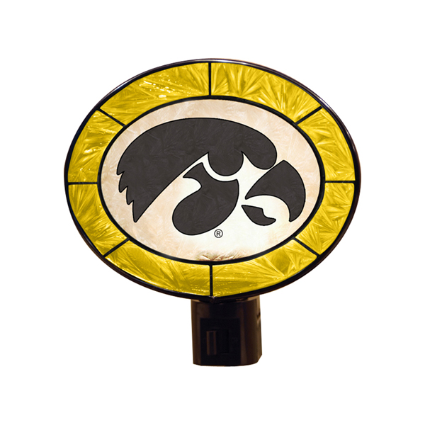 Iowa Hawkeyes Glass Art Night Light