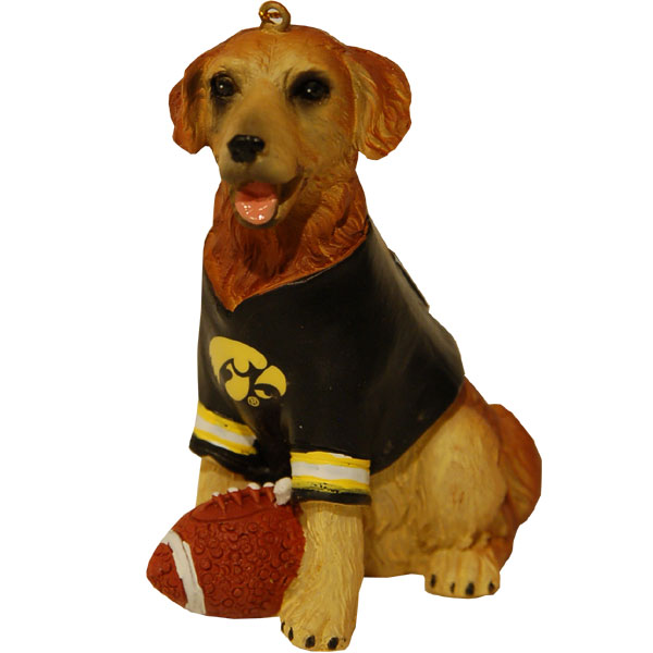 Iowa Hawkeyes Retriever Ornament