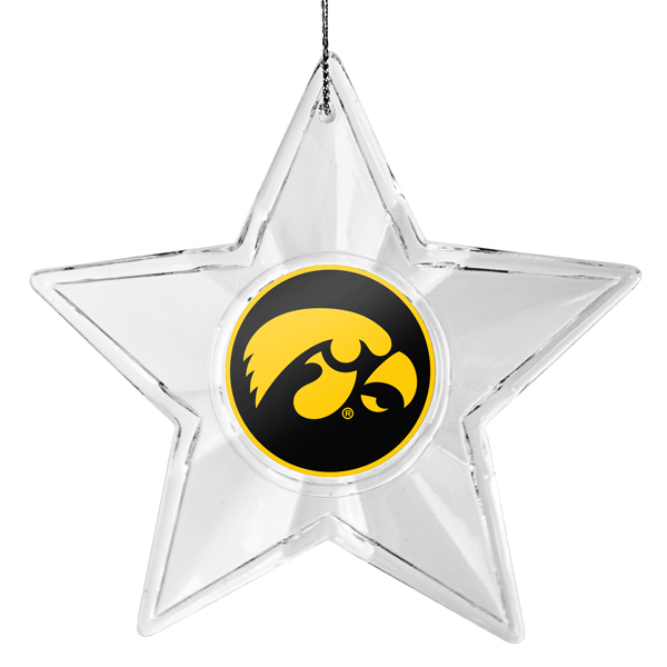 Iowa Hawkeyes Traditional Star Ornament