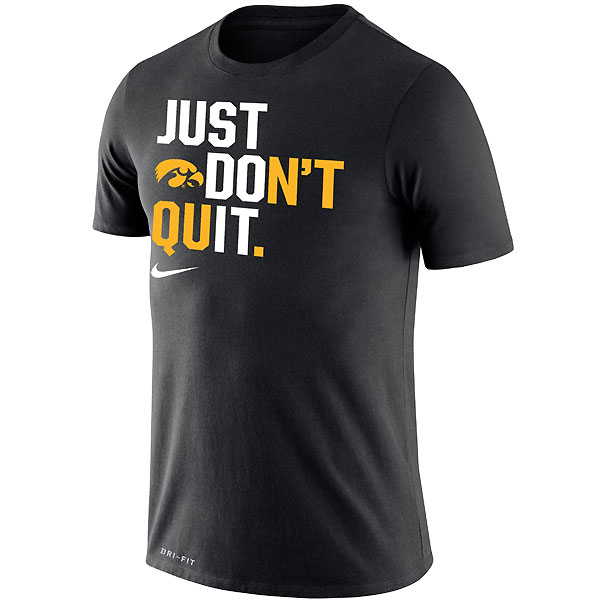 Iowa Hawkeyes Just Don't Quit Tee