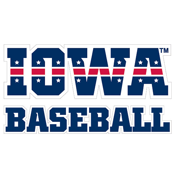 Iowa Hawkeyes Patriotic Iowa Baseball Decal