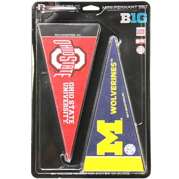 Iowa Hawkeyes Big 10 Teams Mini Pennant Set