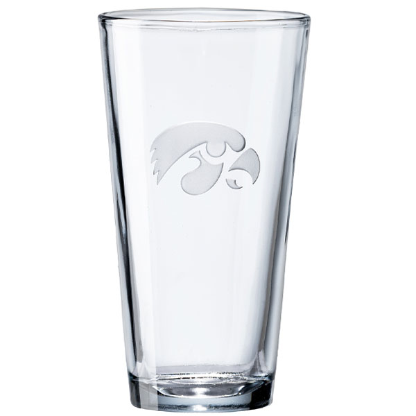 Iowa Hawkeyes Pint Beer Glass
