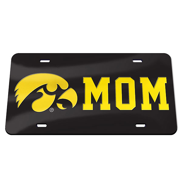 Iowa Hawkeyes Mom Plate