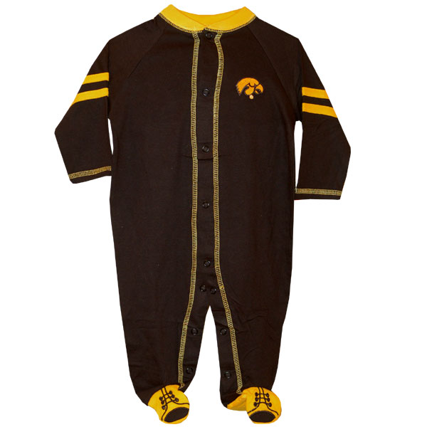 Iowa Hawkeyes Infant Black & Gold Romper