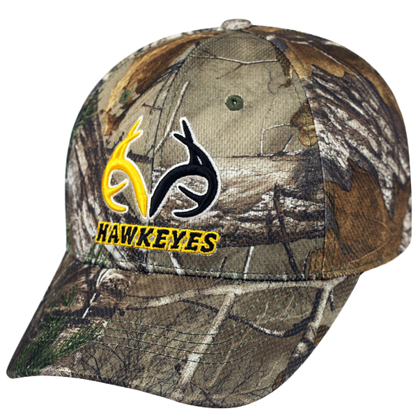 Iowa Hawkeyes Real Tree Print One Fit Hat