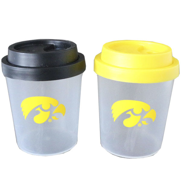 Iowa Hawkeyes Plastic Salt and Pepper Shakers