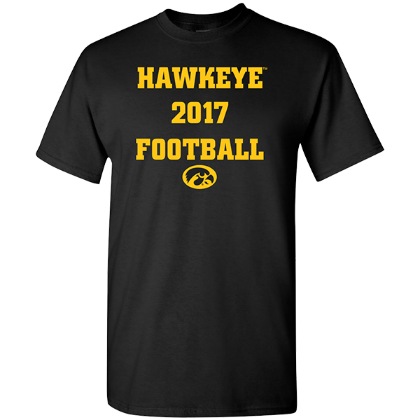 Iowa Hawkeyes 2017 Football Schedule Tee