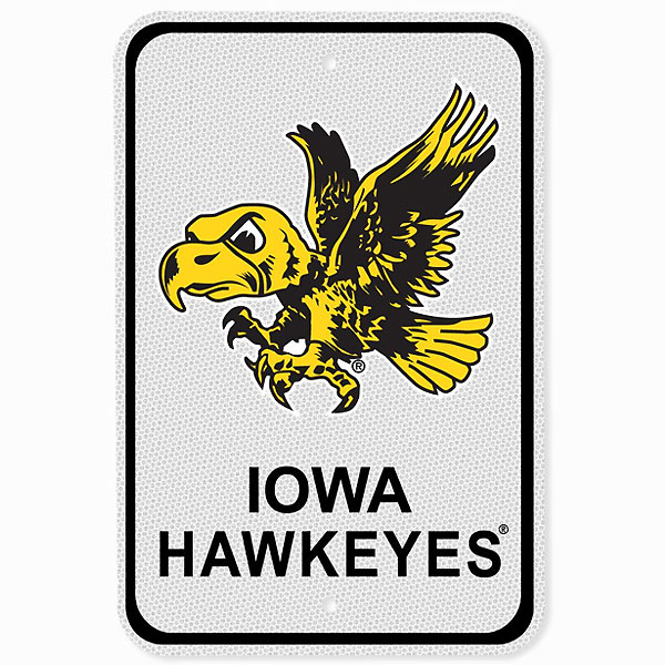 Iowa Hawkeyes Reflective Parking Sign