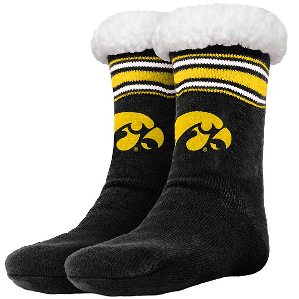 Iowa Hawkeyes Stripe Logo Slippers