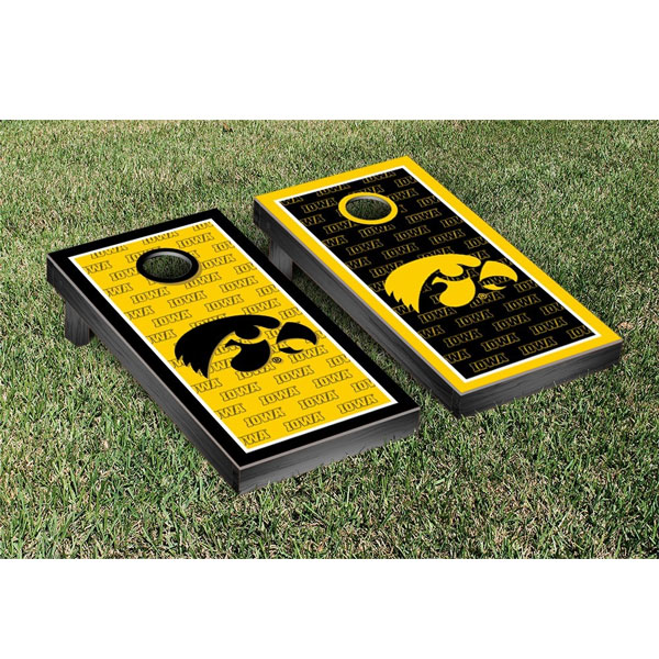 Iowa Hawkeyes Cornhole Game Set Border Version 3