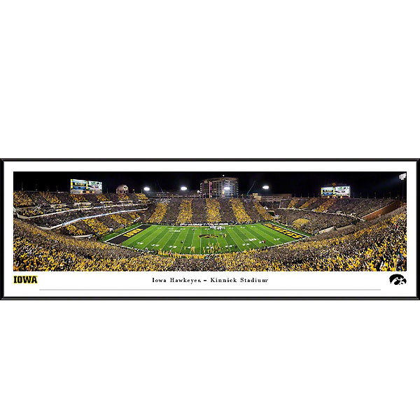 Iowa Hawkeyes 2019 Panoramic Picture - Kinnick Stadium at Night - Standard Frame