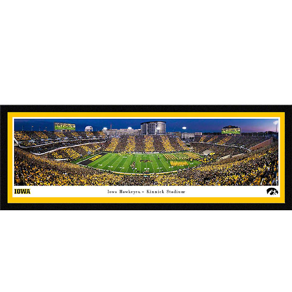 Iowa Hawkeyes 2019 Panoramic Picture - Kinnick Stadium Swarm the Field - Matted